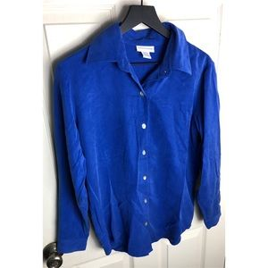 Soft surroundings royal blue button down SP